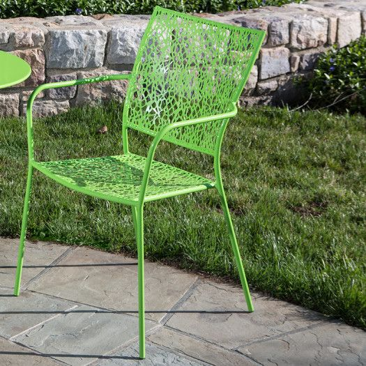 $255 for 2, out of stock until November Alfresco Home Martini Stacking Dining Arm Chair