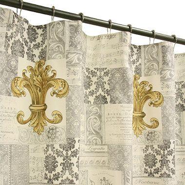 Fleur De Lis 70 Inch X 72 Inch Shower Curtain Curtains Shower