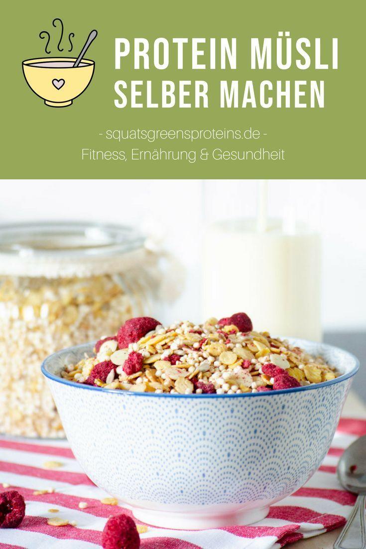 Schoko Nuss Protein Müsli selber machen - ganz einfach! Leckeres Frühstücksrezept - Squats, Gree