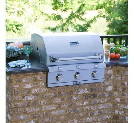 Stainless Steel 3 Burner Built In Gas Grill Gas Grill Outdoor Kitchen Design Natural Gas Grill