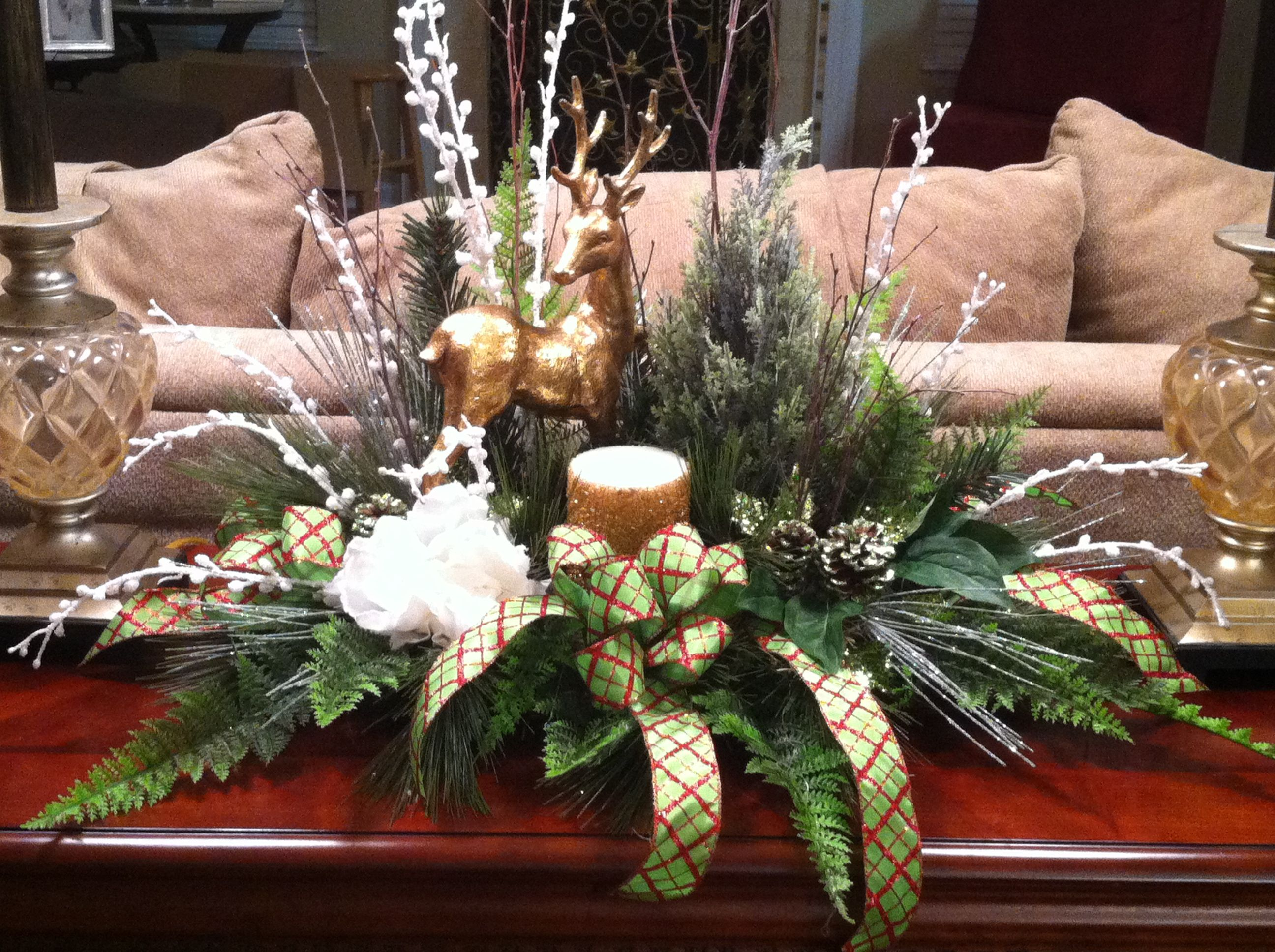 Christmas Table Arrangementperfect For Hall Or Sofa Table