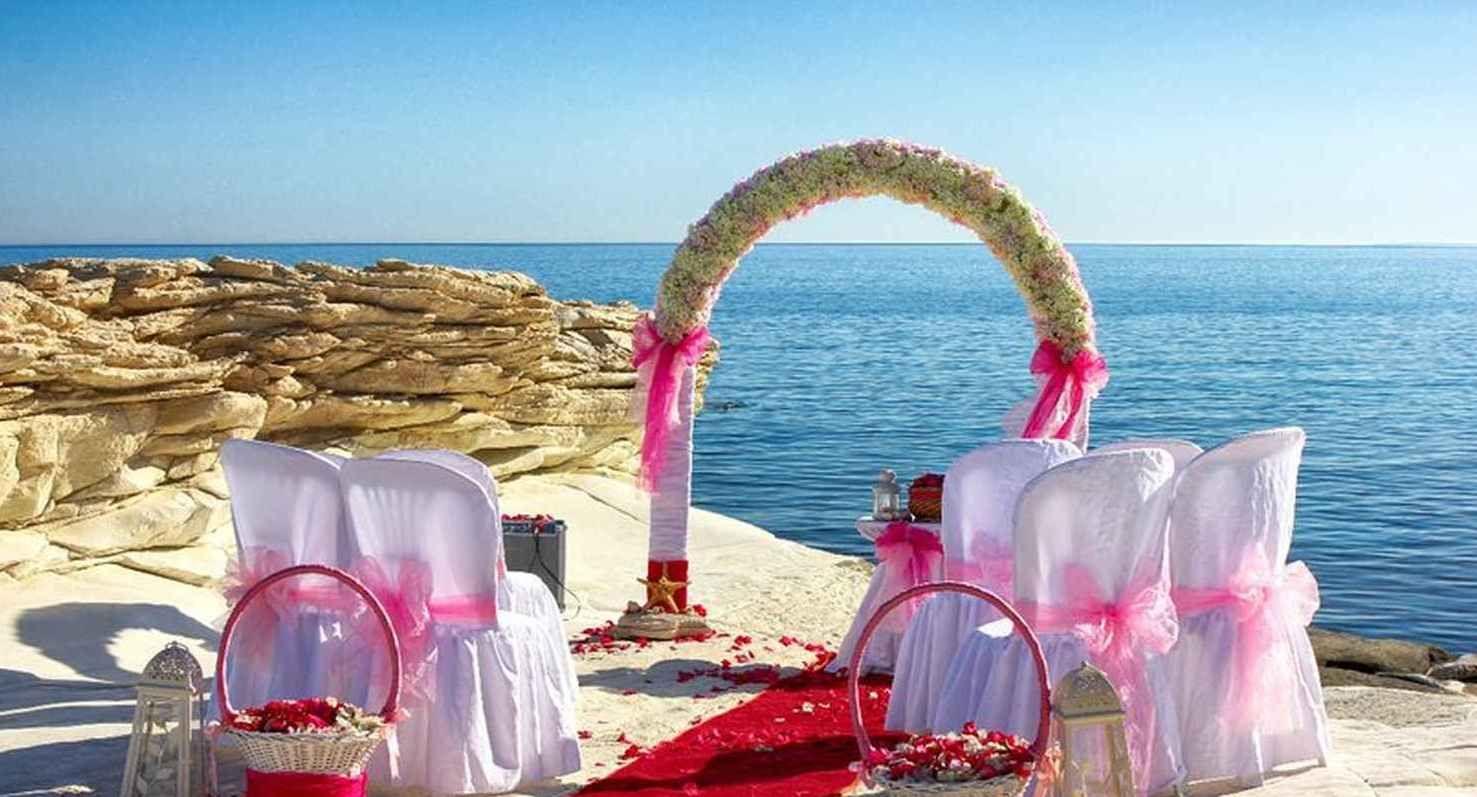 Beach Wedding At Aphrodites Rock Limassol Cyprus