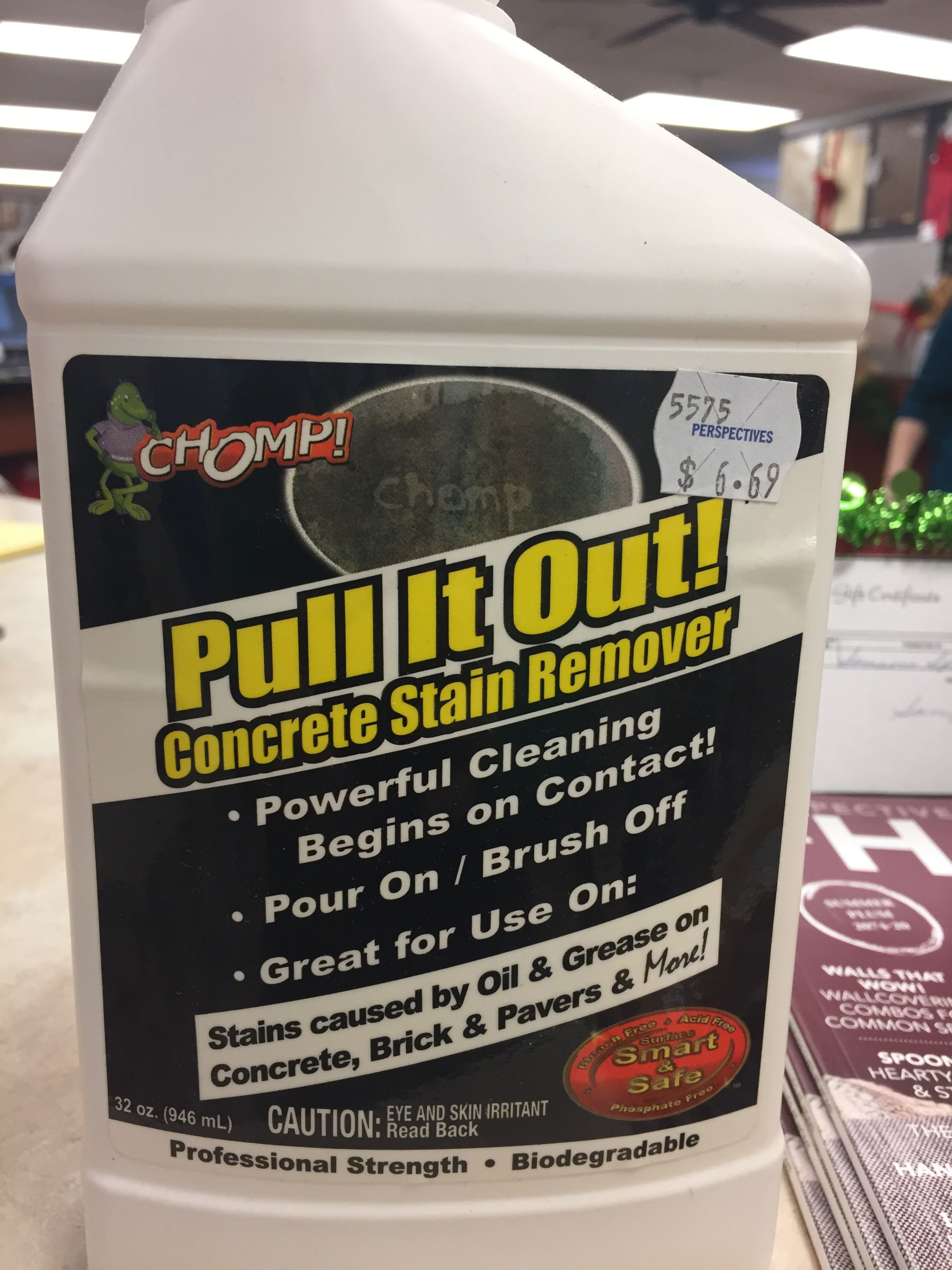 CHOMP/Pull It Out concrete cleaner