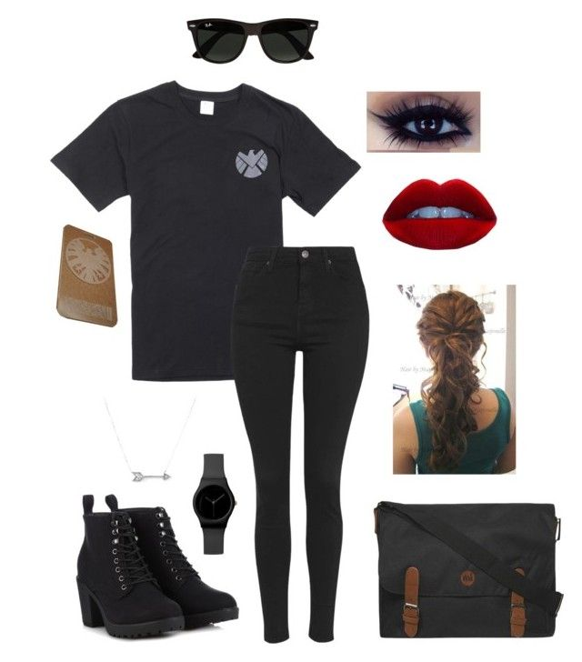"""#MarvelMonday"" by maw1230 ❤ liked on Polyvore featuring Topshop, Call it SPRING, Dorothy Perkins, Adina Reyter, Ray-Ban and marvelmonday"