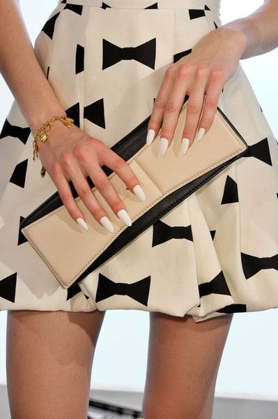 Kate Spade Spring 2013 ... check out the dagger nails ... haven't seen much of that in a long while!