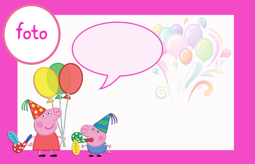 Peppa Pig: Free Printable Invitations, Labels or Cards.   3rd /4th ...