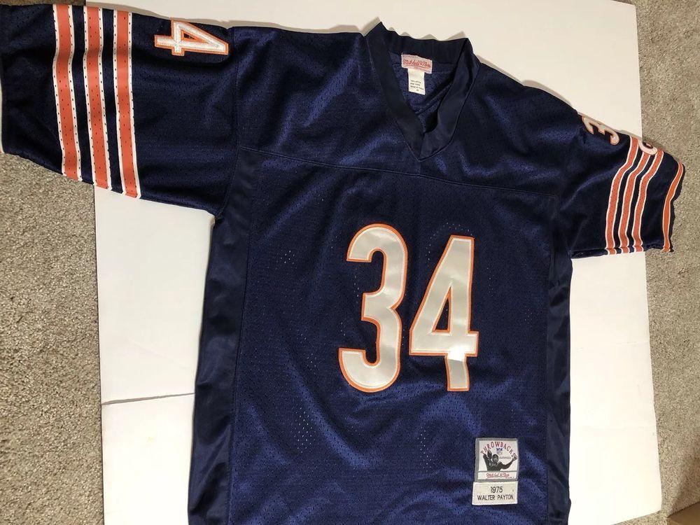 ce7e7637812 Walter Payton Chicago Bears NFL MITCHELL   NESS 1975 Throwback Jersey SIZE  48 (eBay Link