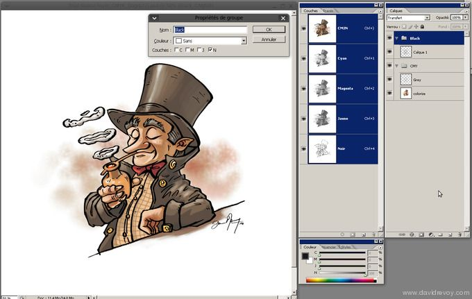 Comics Inking And Coloring With Gimp Painter David Revoy Gimp Tutorial Gimp Doodling Tutorial