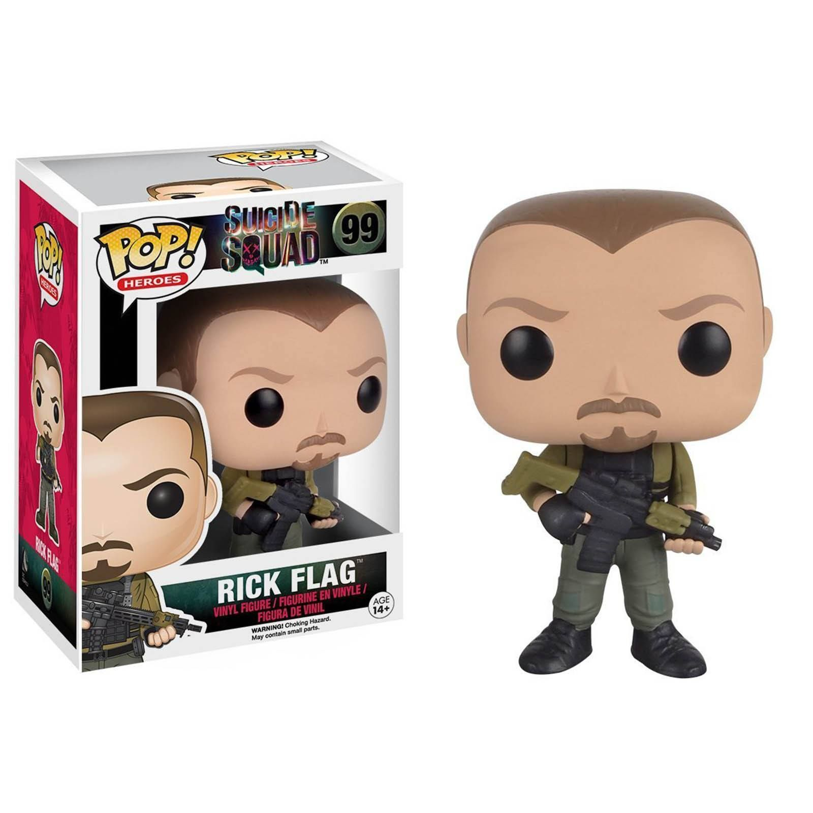 This is a Suicide Squad POP Rick Flag Vinyl Figure that is produced by Funko. With the new movie coming out, these villains are excited to get their own POP vinyls. Thanks Funko for more great POPs. R