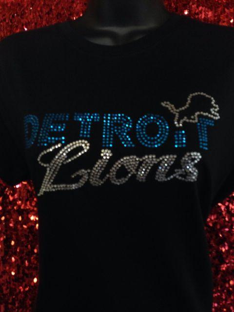 release date: 34438 301f3 Detroit Lions!   T-shirt   Bling shirts, Detroit Lions, Shirts