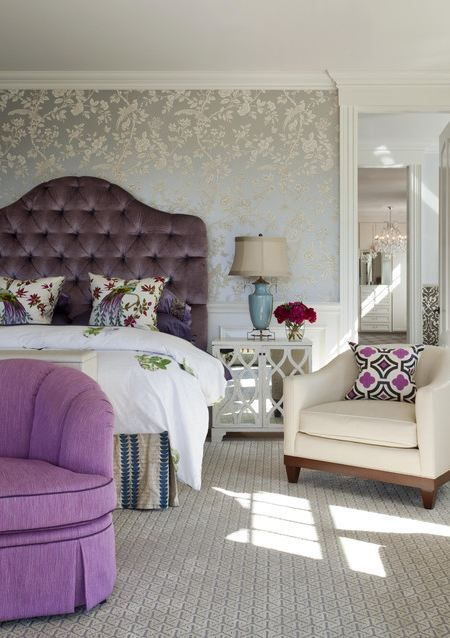 Delightful Wallpaper For The Bedroom {Behind The Bed