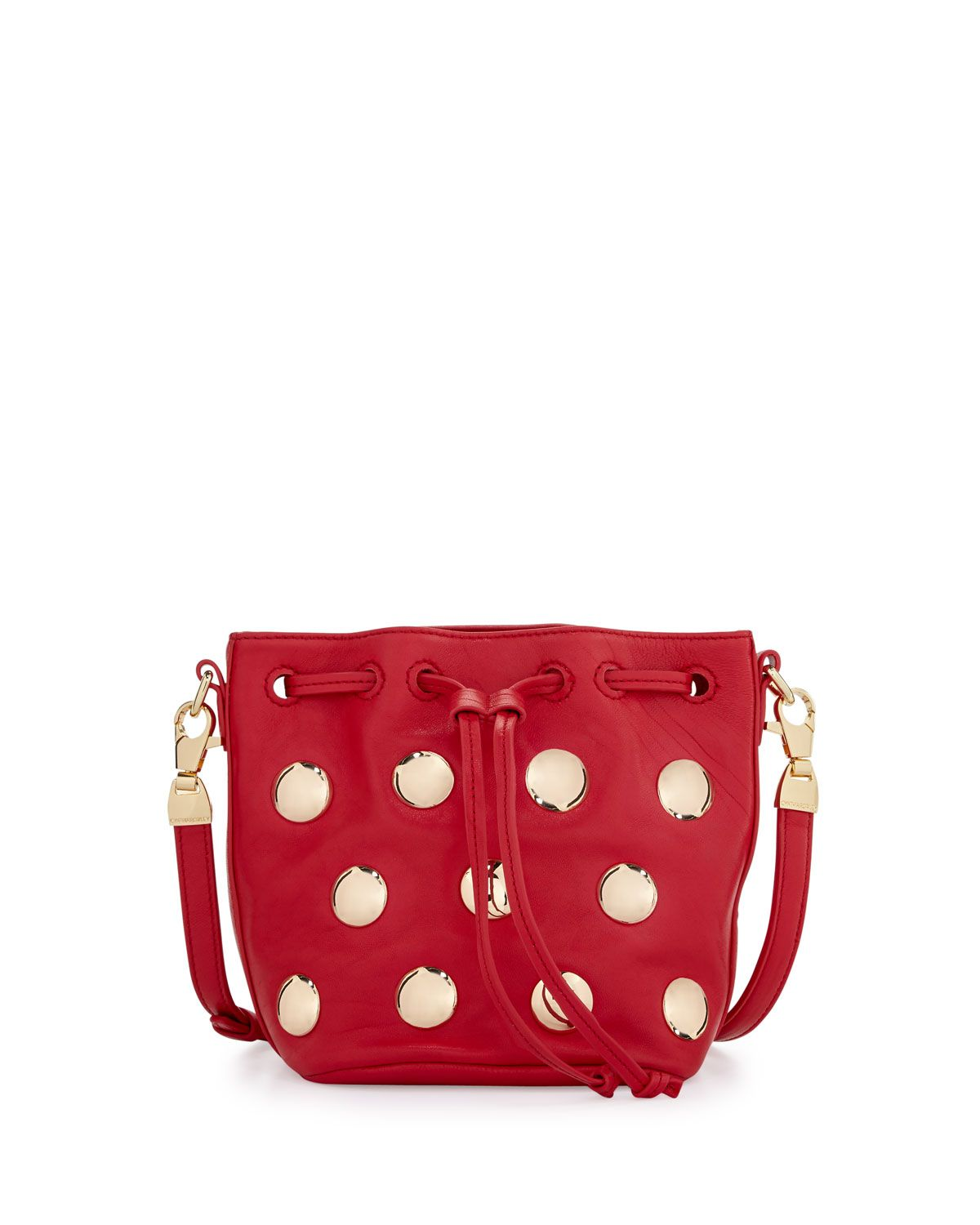 Cynthia Rowley Paisley Studded Leather Crossbody Bag, Red