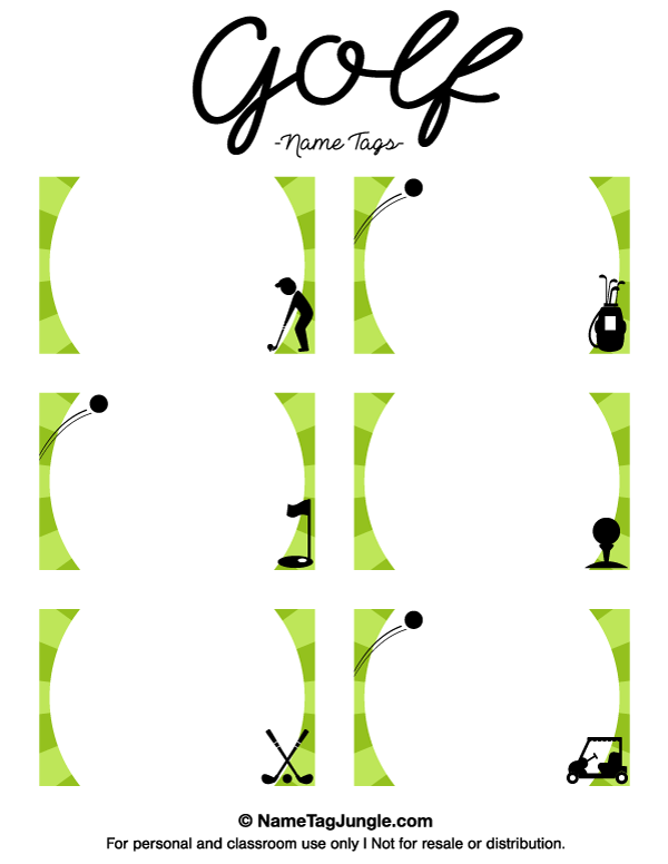 free printable golf name tags the template can also be used for