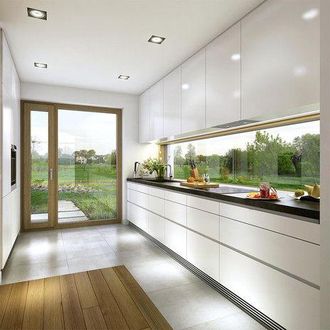 świetna Kuchnia Dużo światła Panoramiczne Okno Rewelacja