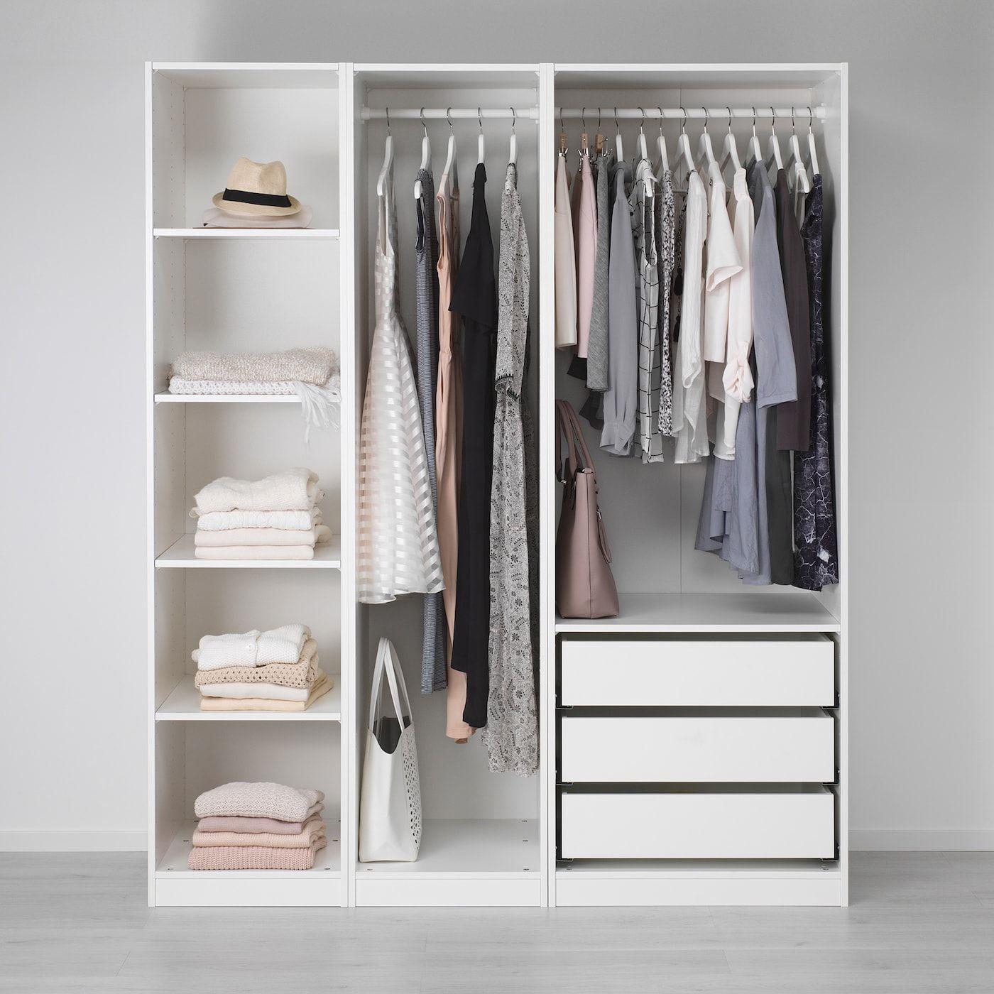 Pax Wardrobe White 68 7 8x22 7 8x79 1 4 In 2020 Ikea Pax