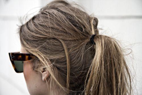 weekend ponytail