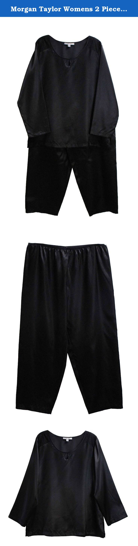 Morgan Taylor Womens 2 Piece Long Sleeve Pajama Set XXL Black. Morgan Taylor Womens 2 Piece Long Sleeve Pajama Set XXL Black.