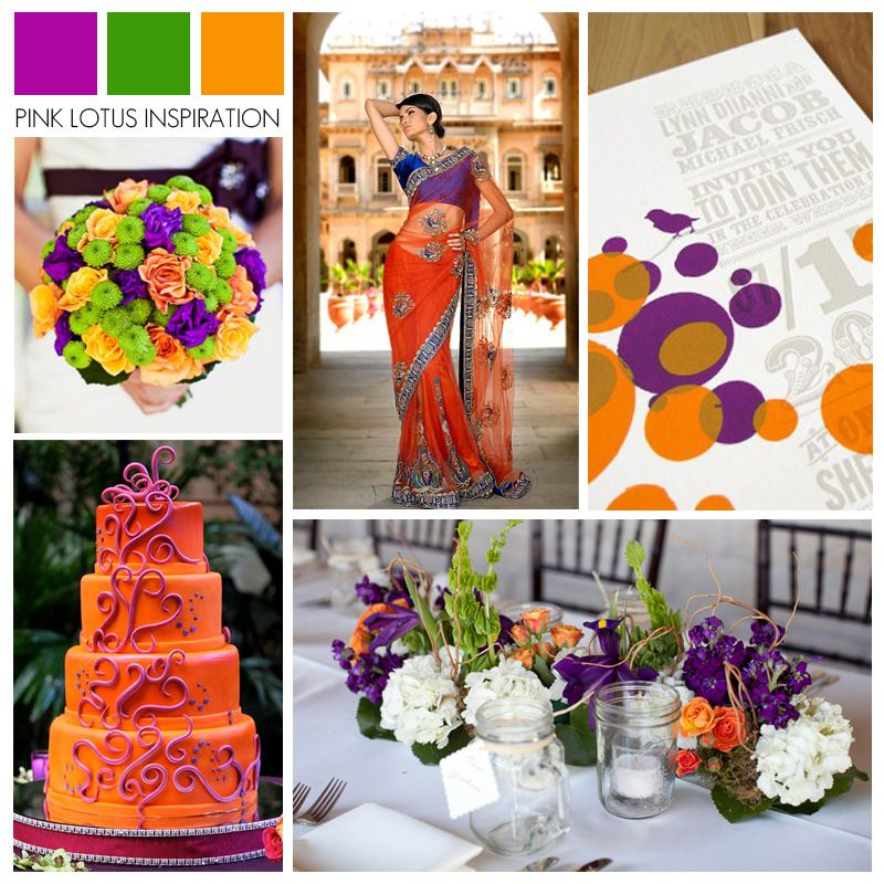 COLOR BOARD PURPLE GREEN AND ORANGE
