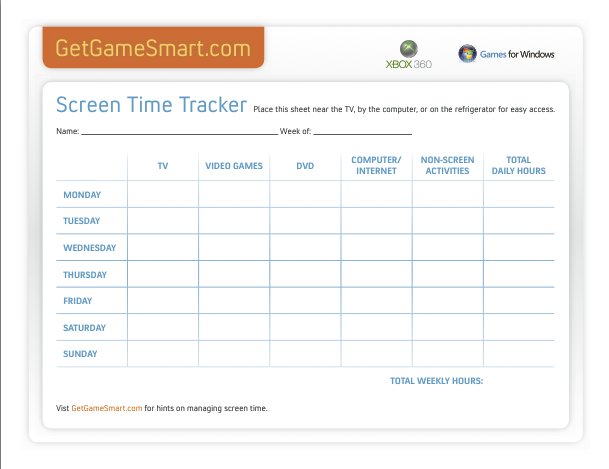 A screen-time tracker is great for back-to-school time