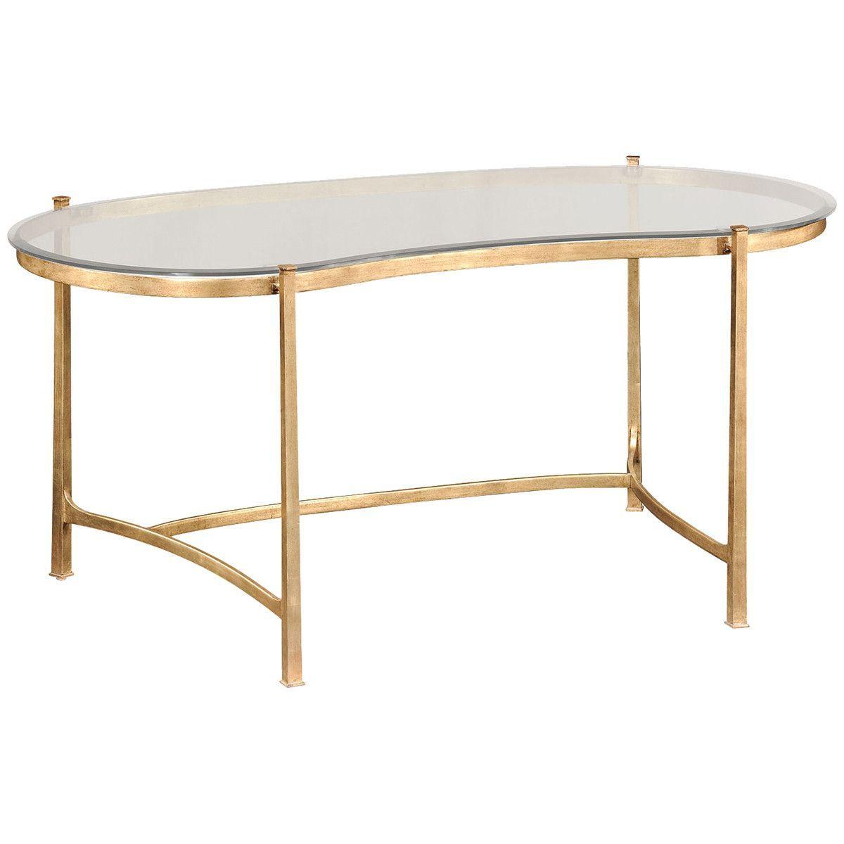 Jonathan Charles Kidney Desk And Glass Top Clearance Sale Kidney Shaped Desk Luxury Desk Glass Desk