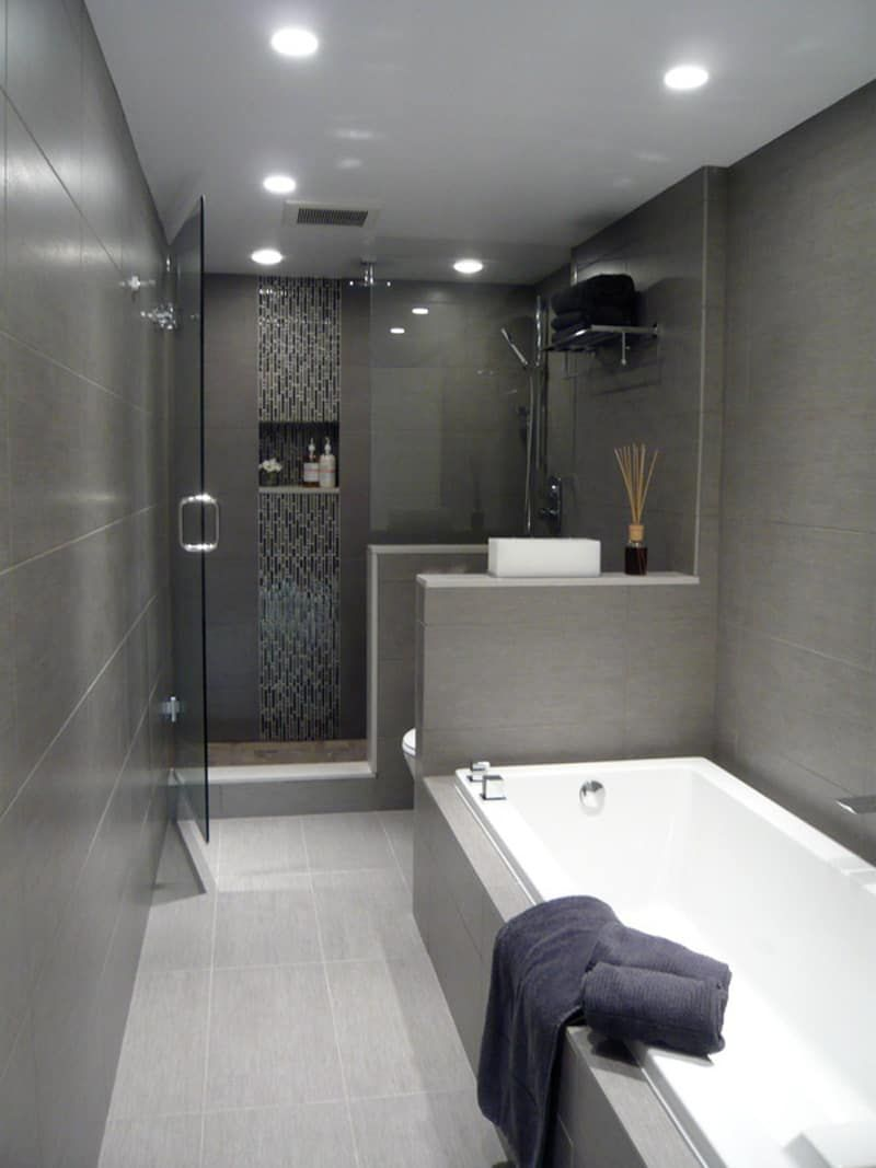 25 Gray And White Small Bathroom Ideas White Bathroom Designs Bathroom Design Small Small Bathroom Remodel