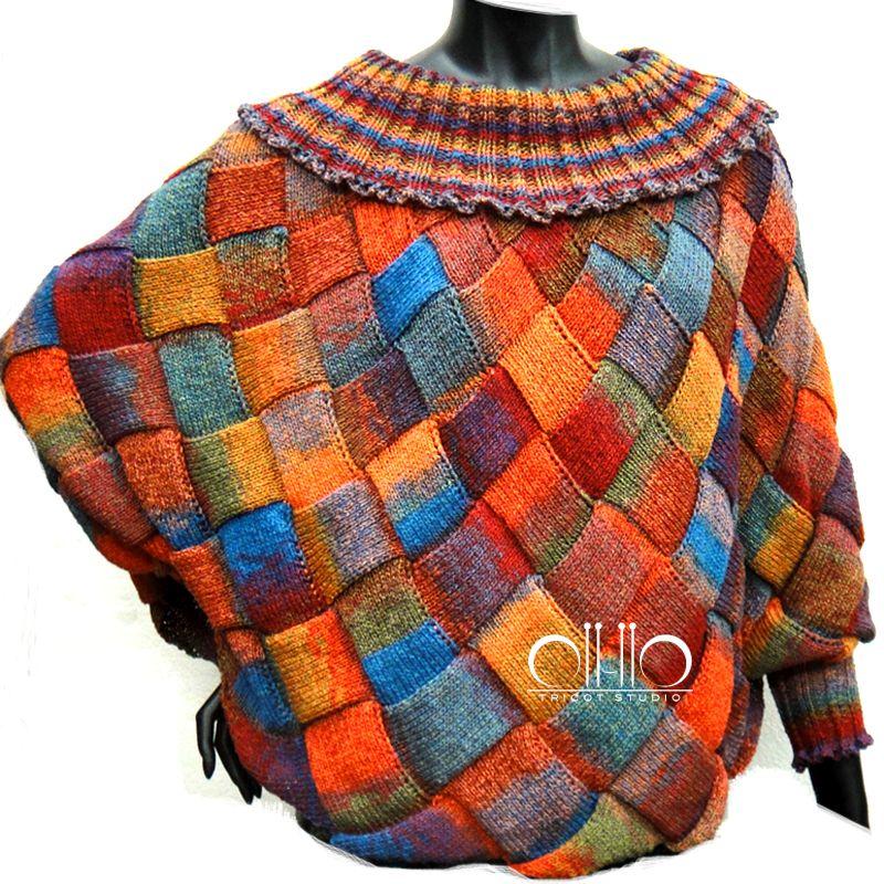 Poncho...Entrelac Stitch...Designed by Jung Hwa Yoo   Entrelac ...
