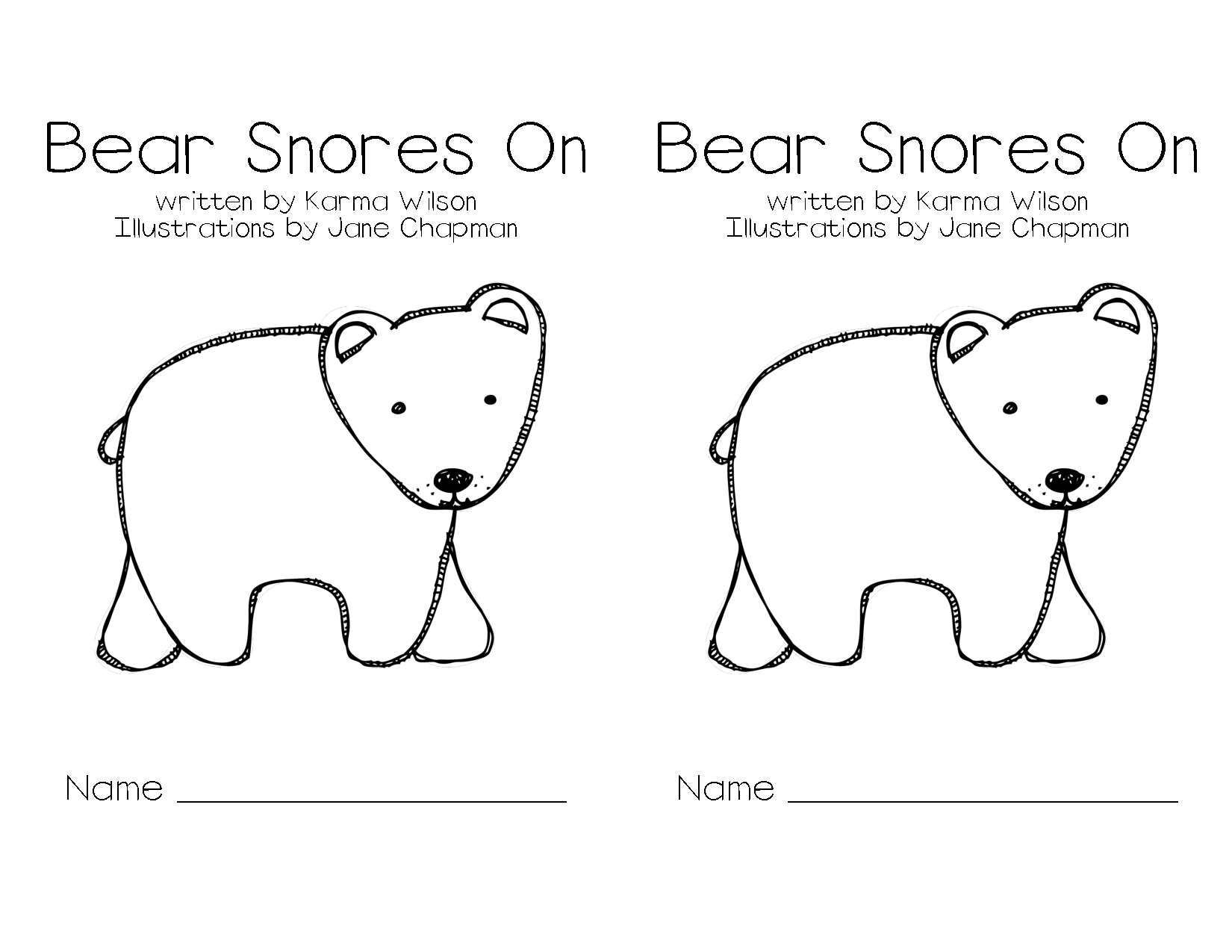 Coloring Pages For Bear Snores On | Coloring Pages