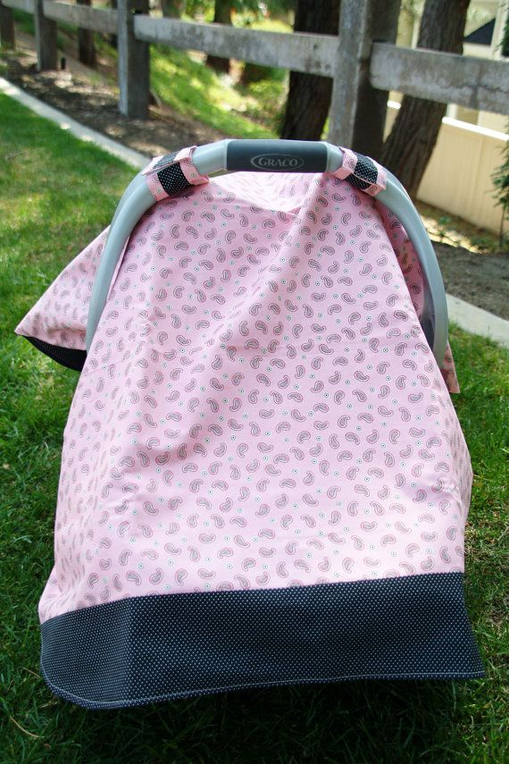 pink and black paisley baby car seat cover by thelilredwagon baby shower pinterest. Black Bedroom Furniture Sets. Home Design Ideas