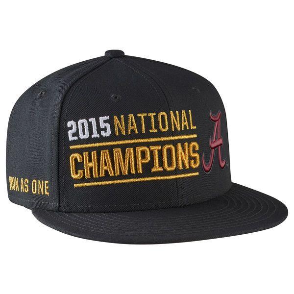 4dc87939675 Alabama Crimson Tide Nike College Football Playoff 2015 National Champions  Players Locker Room Performance Snapback Adjustable Hat - Black