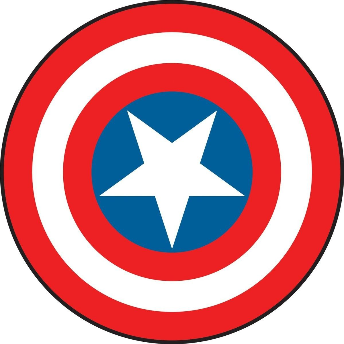 Stickers Bouclier Captain America Marvel Taille Taille Unique