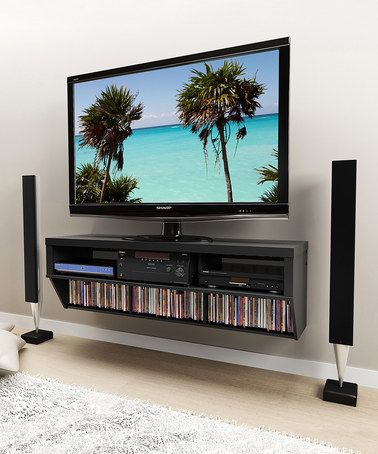 Black Series 9 58 Wall Tv Console By Prepac Wall Mounted Tv Wall Mount Tv Stand Tv Wall Mount Installation