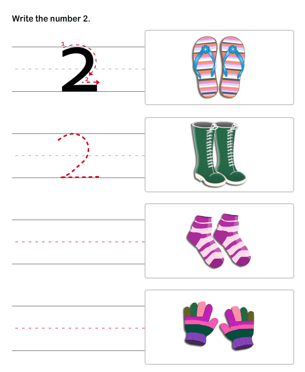 PreK Number Worksheets – Pre K Number Worksheets