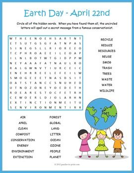 graphic relating to Earth Day Word Search Printable named Globe Working day Term Look Globe Working day Globe working day video games, Planet