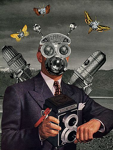 Shutterbug, 2008.  Collage by Angelica Paez.