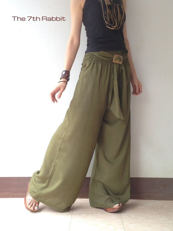 Breezy Olive Green Palazzo Wide Leg Pant Clothes Pinterest