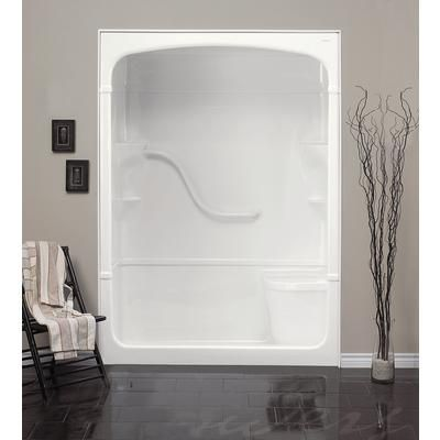 Mirolin Madison 60 Inch 1 Piece Acrylic Shower Stall With Seat