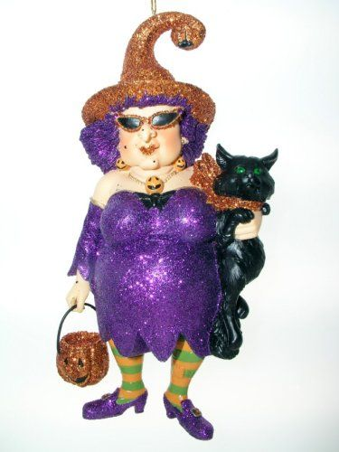 December Diamonds Zelda Ii Witch Halloween Ornament Holding Black