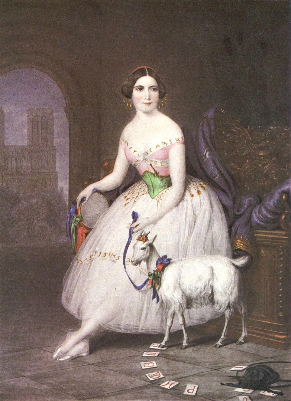 "Fanny Cerrito in ""Esmeralda"", 1844."