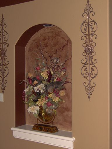valspar venetian plaster in decorative entry way niche for the home pinterest venetian. Black Bedroom Furniture Sets. Home Design Ideas