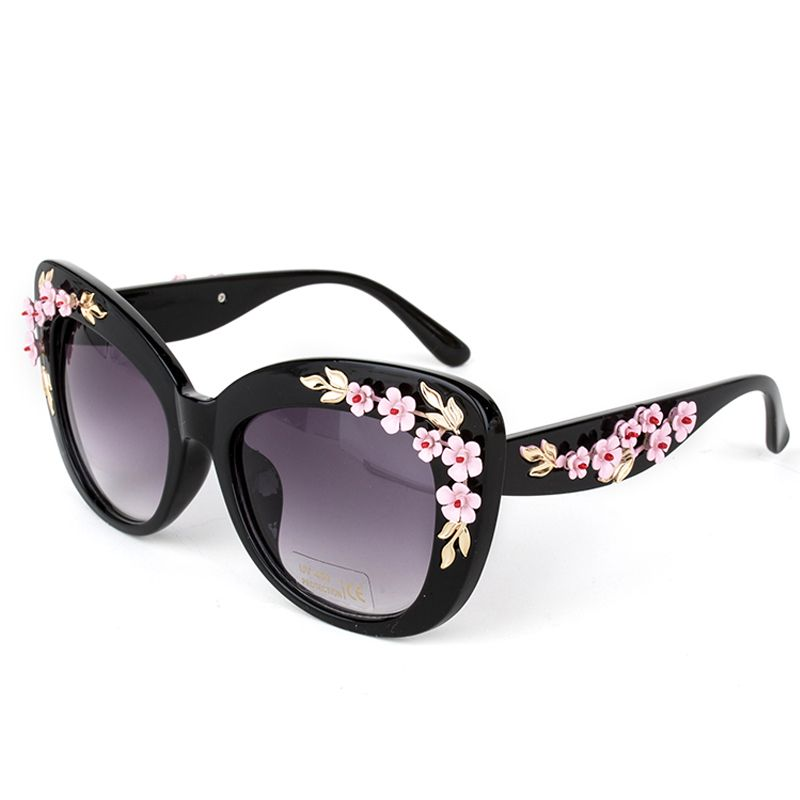 Super Luxury Queen Baroque Sunglasses Brand Designer Women Rose Flower Sun Glasses Oversize Eyewear hJOA4w
