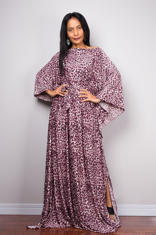 0b7503e8c7e5 Animal print, loose fit maxi dress #nuichan #boho #shopping #fashion