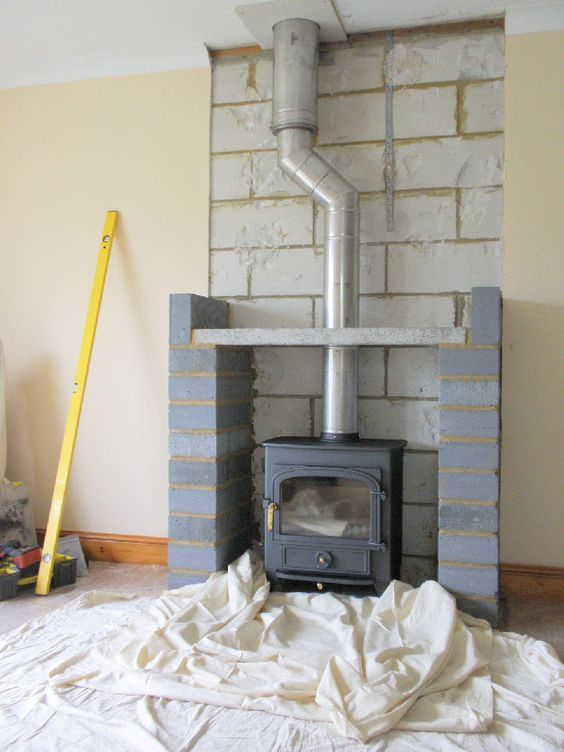 Stove, Flue, Twinwall To Ceiling  Http://www.woodburners.com/installations/no Chimney, No Problem.html