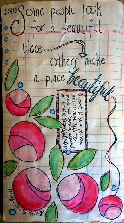 Make beauty.  A new page from one of my art journals.
