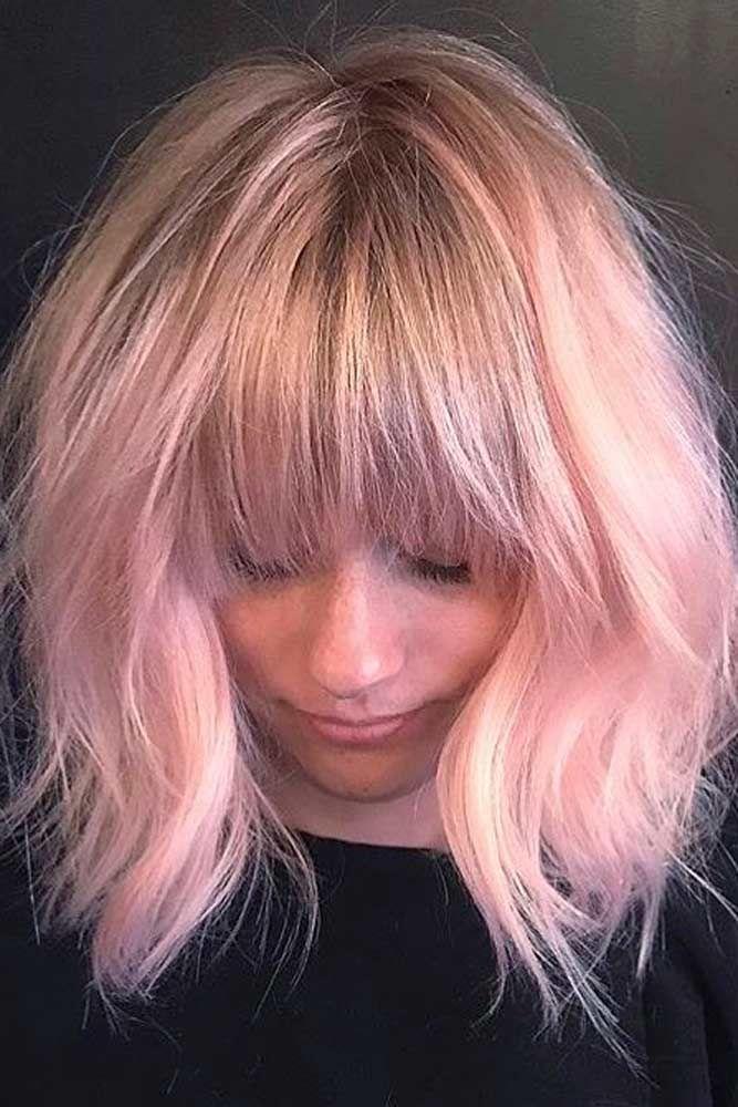 10 Astonishing Layered Haircuts With Bangs Nice And Trendy Layered Haircuts With Bangs Pink Short Hair Blonde Hair With Bangs