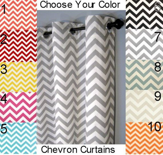 50x84 Blackout Chevron Grommet Curtains Two Curtain Panels You