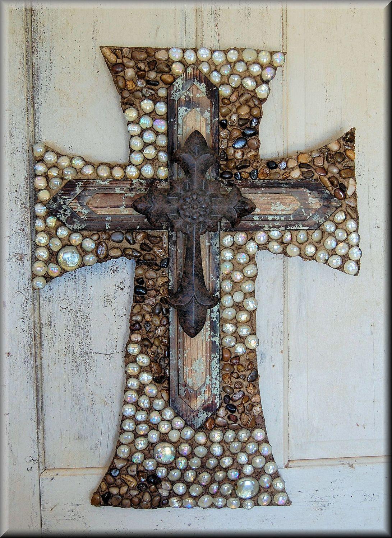 decorative wooden crosses | Wall cross, cross, decorative ...