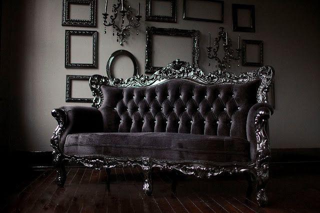CASA MIDDAS gothic velvet settee Gothic Decor