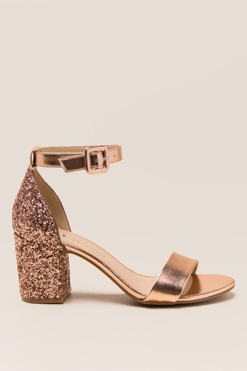 0cd21304b3 CL by Laundry Jodie Glitter Block Heel- Rose/Gold right | Los ...
