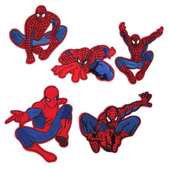 3pcs SPIDERMAN Embroidered Sew On Patch Applique Badge SPIDER MAN