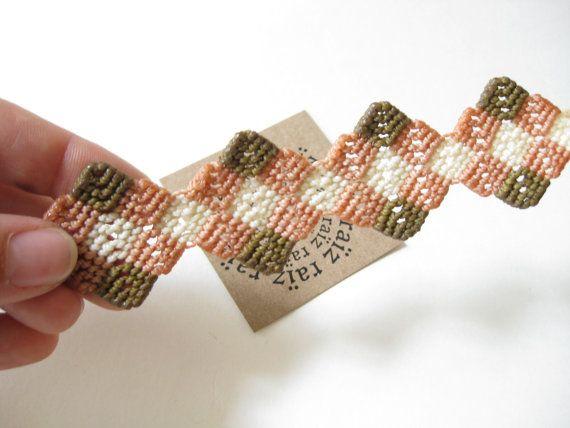 Micro macramè braccialetto gioielli moderni Dainty Macrame.